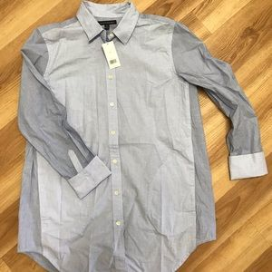 Women's boyfriend style button up blouse